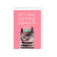 "Postkaart ""Cats rule errathang..."""