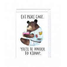 "Postkaart ""Eat more cake!"""